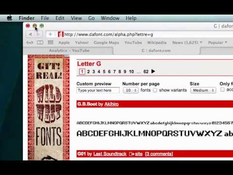 Mac - How To Download A Font From Dafont.com