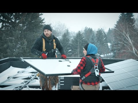 Climb up on the roof with Calgary solar installer, Moni Kawtharani
