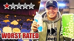 Going To The WORST Reviewed Movie Theater !! (AND Watching The WORST Rated Movie) Both Under 1 STAR
