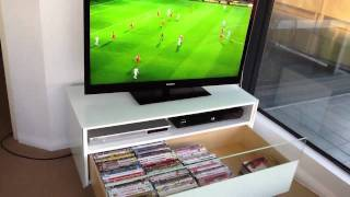 Beyond Furniture - Small Tv Cabinet Glossy Brilliant White