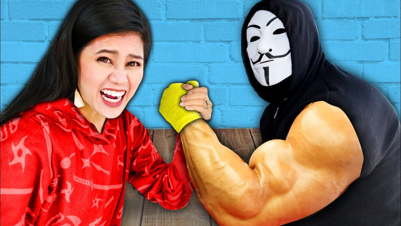 Download CAN YOU BEAT THIS GIRL at ARM WRESTLING? Surprising my Friends SPY NINJAS vs Giant Hacker Challenge