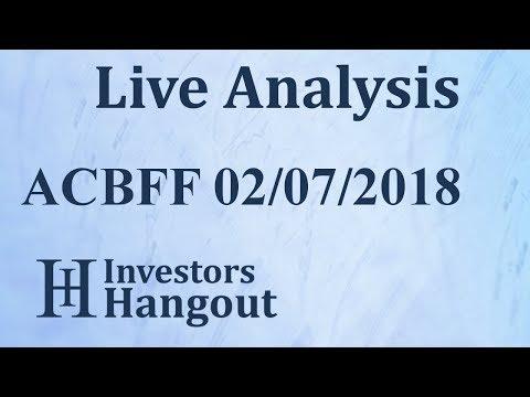 ACBFF Stock Aurora Cannabis Inc. Live Analysis 02-07-2018