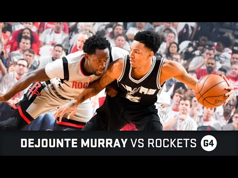 Dejounte Murray Highlights: 8 PTS, 3 AST vs Rockets Semifinals Game 4 (07.05.2017)