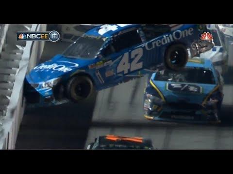 Monster Energy NASCAR Cup Series 2017. Daytona International Speedway. Big Crash & Red Flag