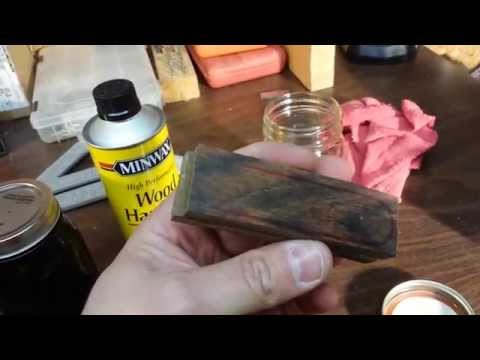 Stabilizing wood knife scales