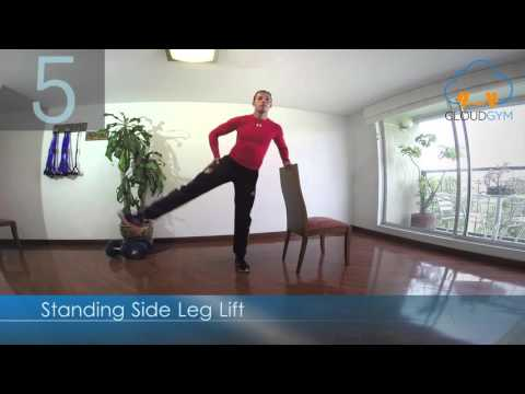 Standing Side Leg Lift - CloudGym Training Anywhere