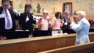 Sr. Mary Ann Hawes, MSC and Bell Choir at St. Frances Xavier Cabrini Shrine in NYC
