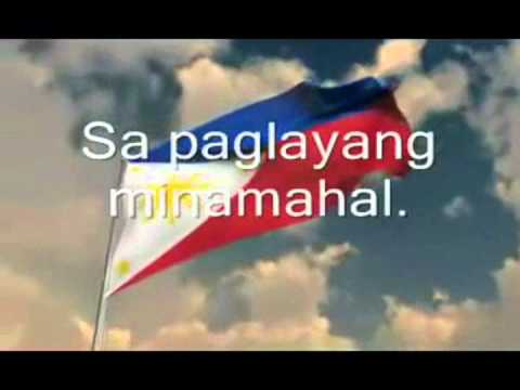 Lupang Hinirang with Lyrics by filia