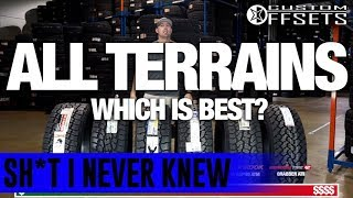 Sh*t I Never Knew: ALL-TERRAIN ALL-Stars    Side By Side Comparison