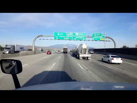 BigRigTravels LIVE! Moreno Valley to Ontario, California I-215, CA 60 & I-15-Jan. 15, 2018