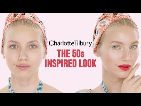 Alice Temperley 50's inspired makeup tutorial   Charlotte Tilbury