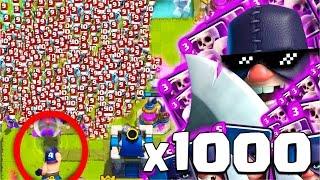 1000 İSKELET VS 1 CELLAT !! (İNANILMAZ) - CLASH ROYALE