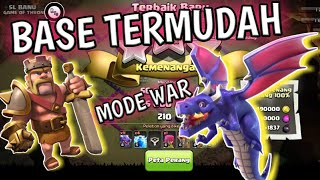 NYERANG BASE TERMUDAH DI MODE WAR!!! [CLASH OF CLANS]