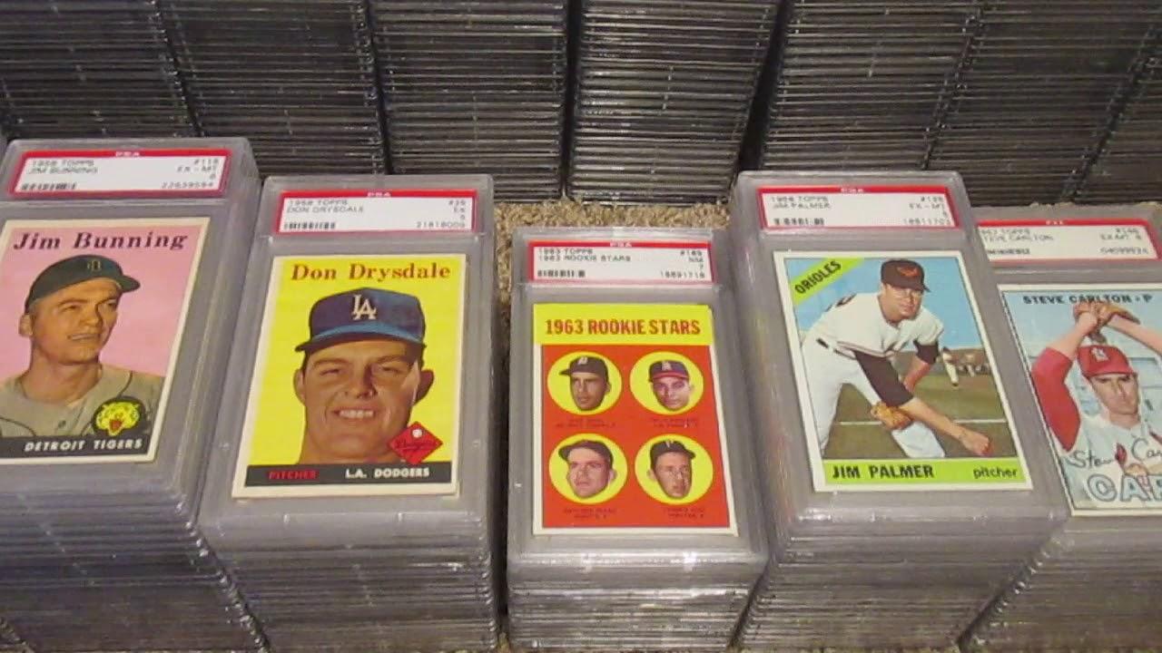 Sorting Through My Psa Graded Baseball Card Collection