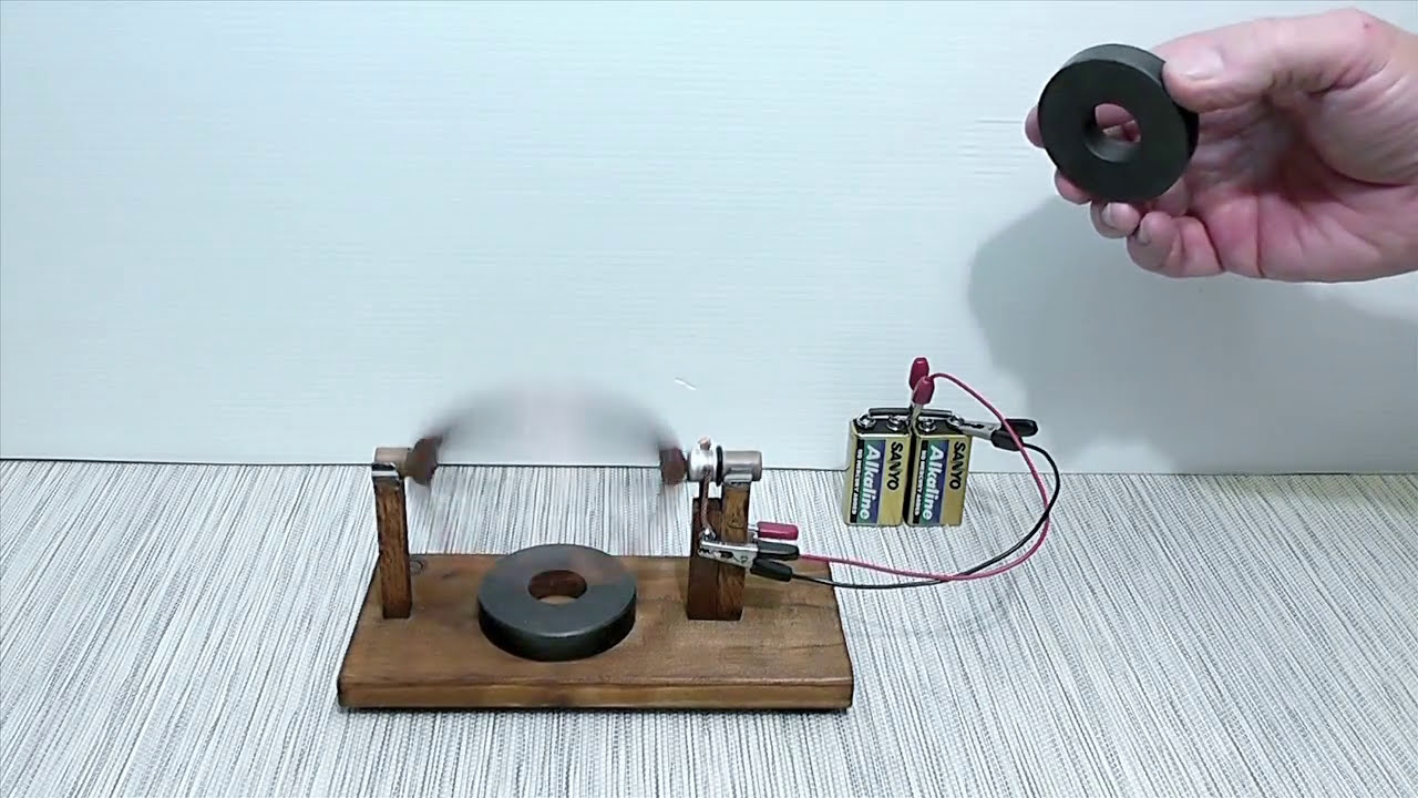 Magnet motor homopolar homemade - YouTube