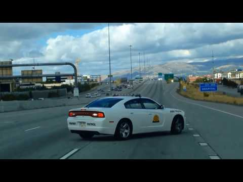 Utah Highway Patrol Officer Performs a Slow-Down Maneuver