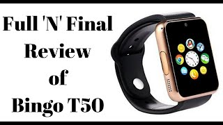 Full 39 N 39 Final Review of Bingo T50 smartwatch in Hindi
