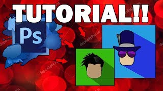 PhotoShop Tutorial: How to make profile photo of Roblox!!