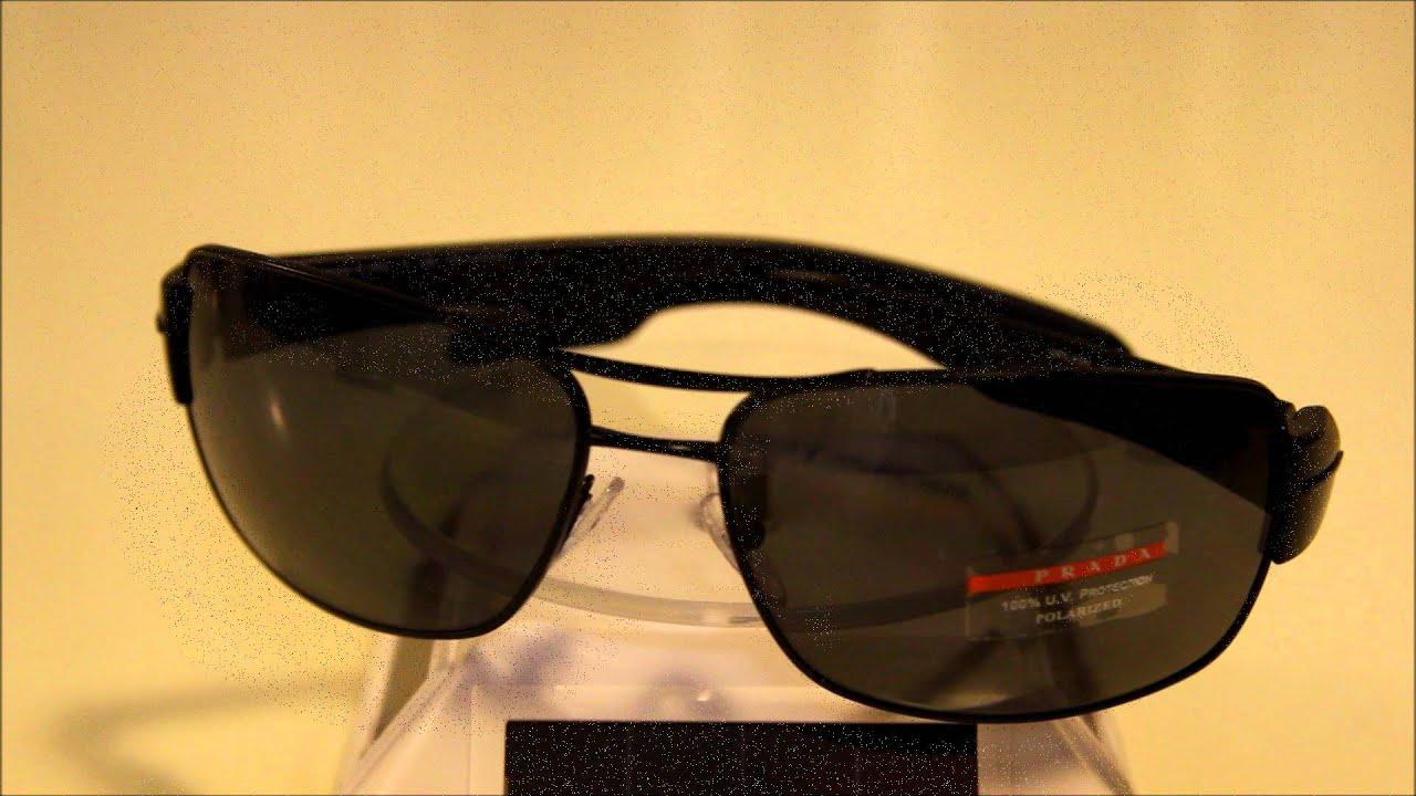 d29ebd1516 Prada SPS 53N Polarized Sunglasses - YouTube