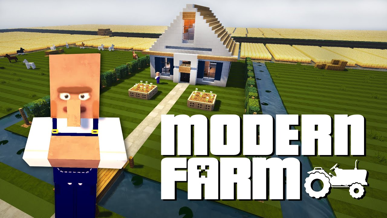 Minecraft Ideas 2 Minecraft Modern Farm Youtube