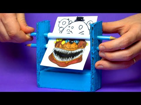 CREATE YOUR FNAF ANIMATRONICS - 8 COOL Five Nights At Freddy's DIY And DOODLE ART IDEA CHALLENGE
