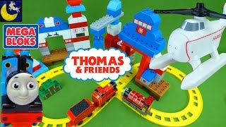 Mega Bloks Thomas & Friends Rescue Center Heroes with Harold, James, Percy, Toby Train Toys Video