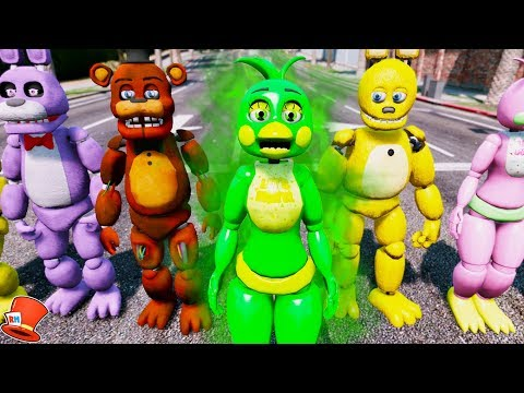 BRAND NEW CHICA ANIMATRONIC! SLIME CHICA! (GTA 5 Mods For Kids FNAF RedHatter)
