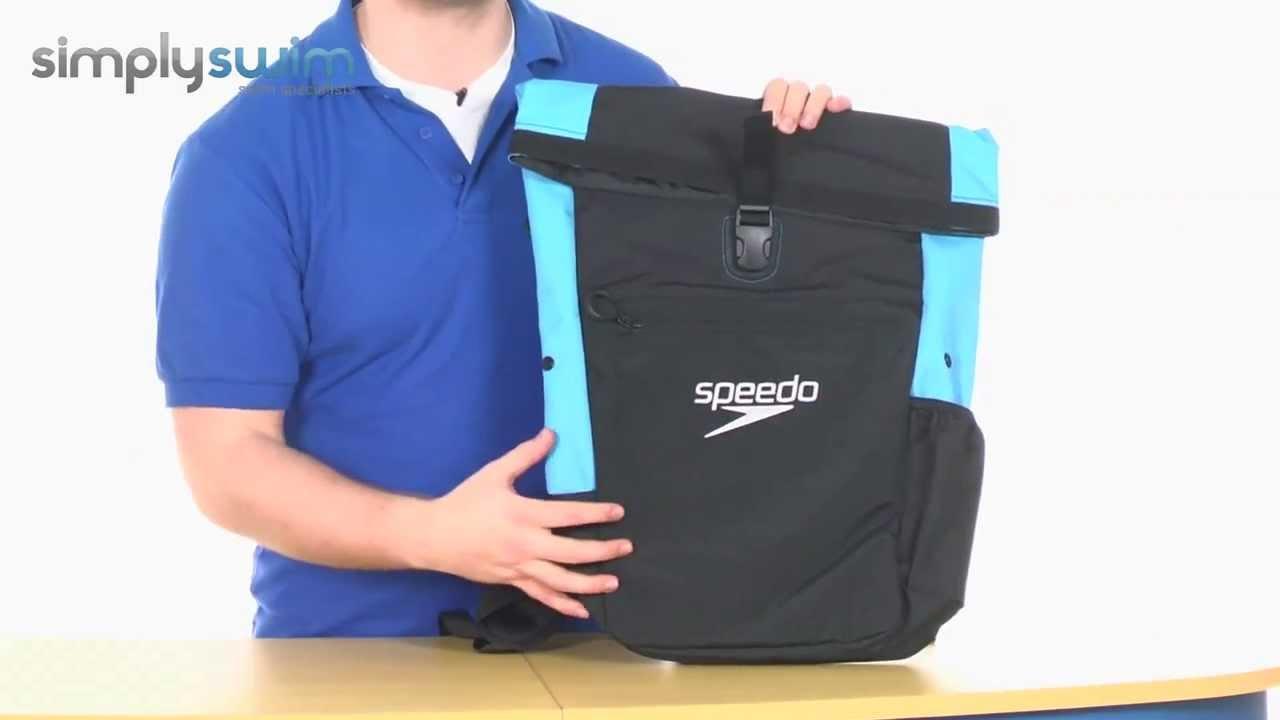 Speedo Unisex Team 30L Rucksack III Grau Sport Schwimmen Taschen