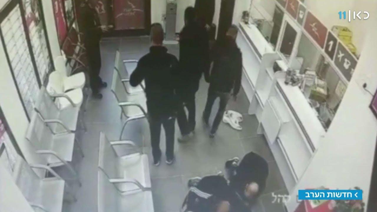במהלך השוד: השוטרים התנפלו על החשוד