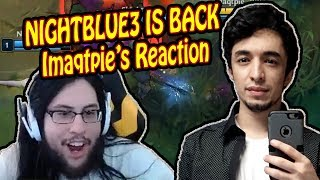Imaqtpie Reacts To Nightblue3 IS BACK Playing League Again | Don't Dive Tobias Fate | LoL Moments