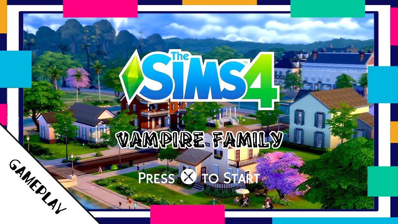 Creating a Vampire Family (No Cheats) - The Sims 4 PS4 (Gameplay)