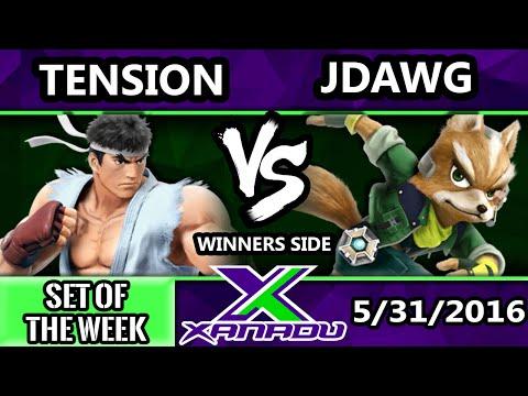 S@X 152 - Tension (Ryu) Vs. Jdawg (Fox) SSB4 Tournament - Smash Wii U - Smash 4