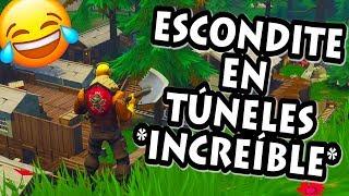 JUGANDO AL ESCONDITE en TUNELES TORTUOSOS *INCREÍBLE LOS ESCONDITES* FORTNITE