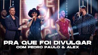Douglas e Henrique & Pedro Paulo e Alex - Pra Que Foi Divulgar (Vídeo Oficial)