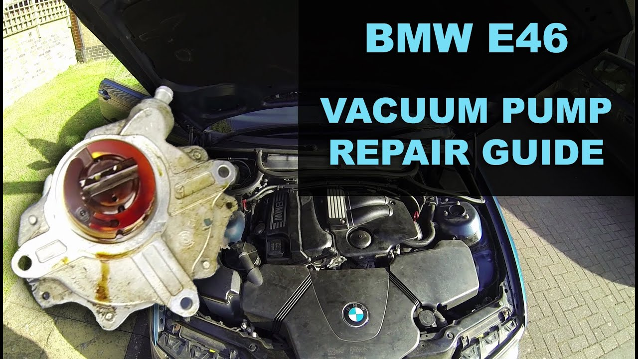 BMW E46 Vacuum Pump Repair - YouTube