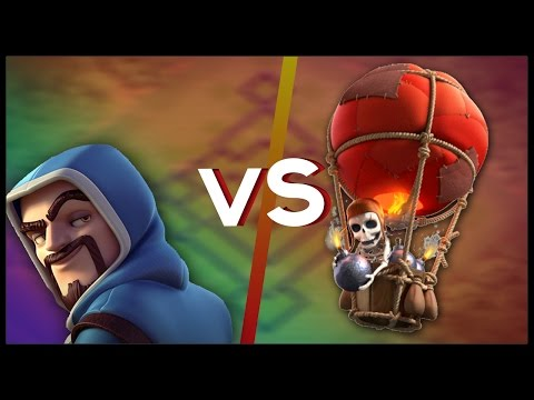 Who Is Better? LVL 5 Wizard Or LVL 5 Balloon? | Clash Of Clans