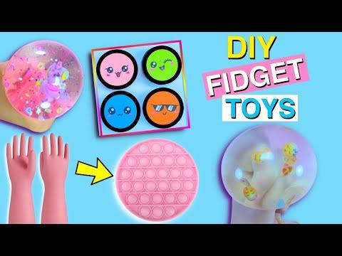 POP IT!! 6 DIY AMAZING FIDGET TOY IDEAS – Viral TIK TOK Fidget Toys Videos