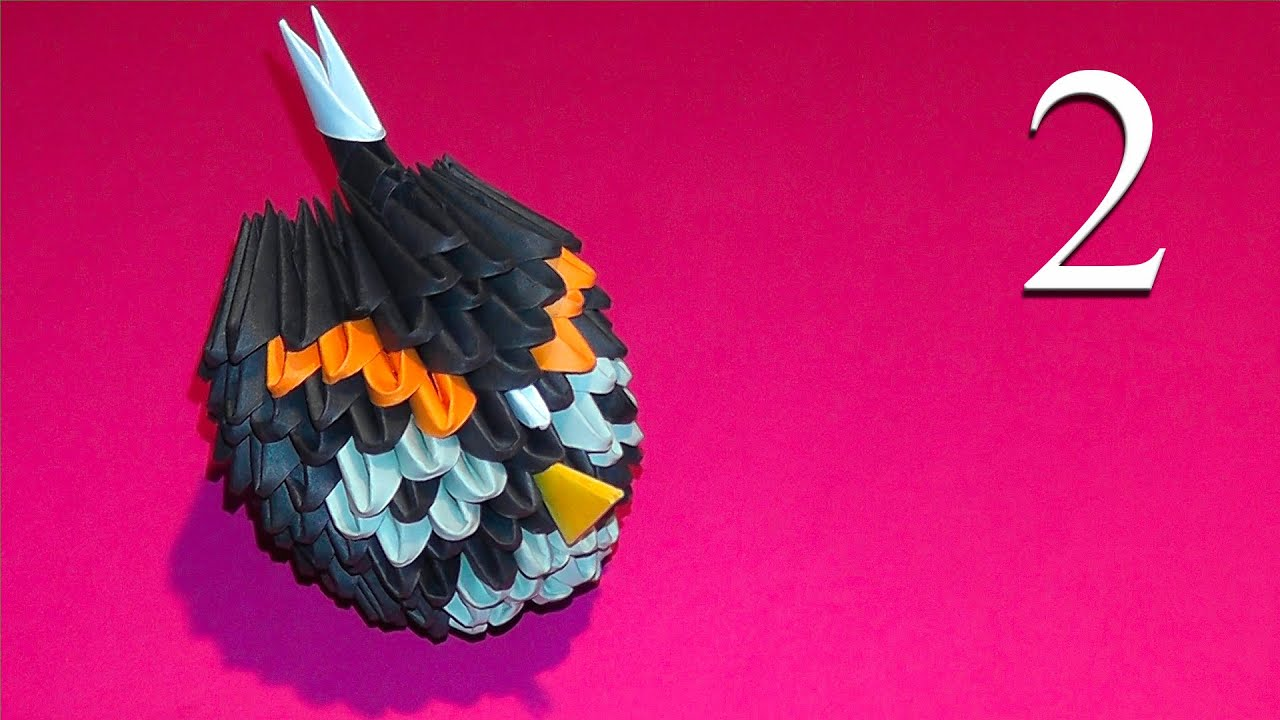 How to make black angry bird 3d origami tutorial youtube how to make black angry bird 3d origami tutorial jeuxipadfo Images