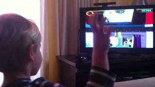 Playing PS2 EyeToy window washing game