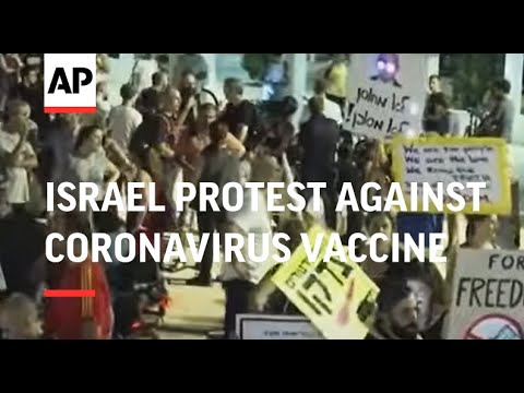 Dozens in Israel protest against coronavirus vaccine