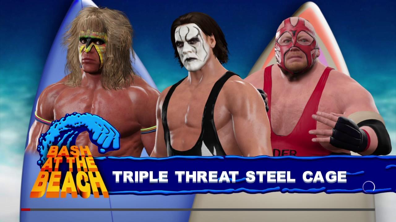 WWE 2K17 Sting '99 VS Ultimate Warrior VS Vader In A ...