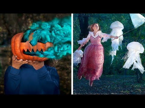 19 Creative Photo Tricks! Scary Halloween Photo Hacks!