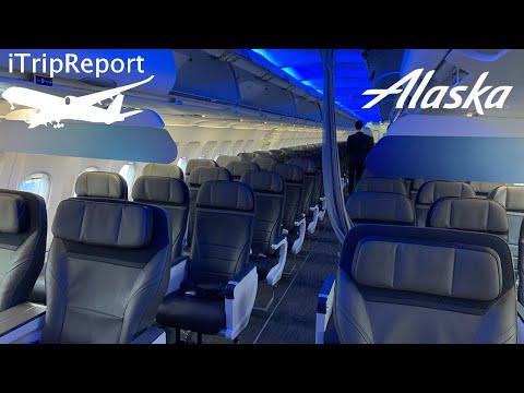 NEW INTERIOR Alaska A320 Main Cabin Review