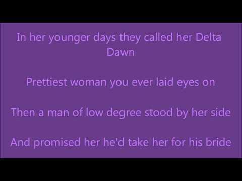 Delta Dawn (with Lyrics On Screen)