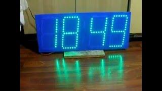 Часы с эффектами и анимированными переходами на светодиодной ленте(Один из вариантов конструкции часов, доступных для повторения. На Алиэкспрессе можно заказать подобный..., 2016-01-20T18:12:21.000Z)
