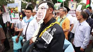Free for Palestine Protest in Front of US Embassy - Jakarta