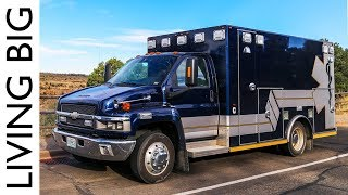 Life On The Road In An Ex-Ambulance Camper