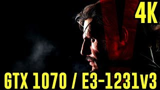 Metal Gear Solid V: GTX 1070 | Ultra - 4K [DSR] | FRAME-RATE TEST