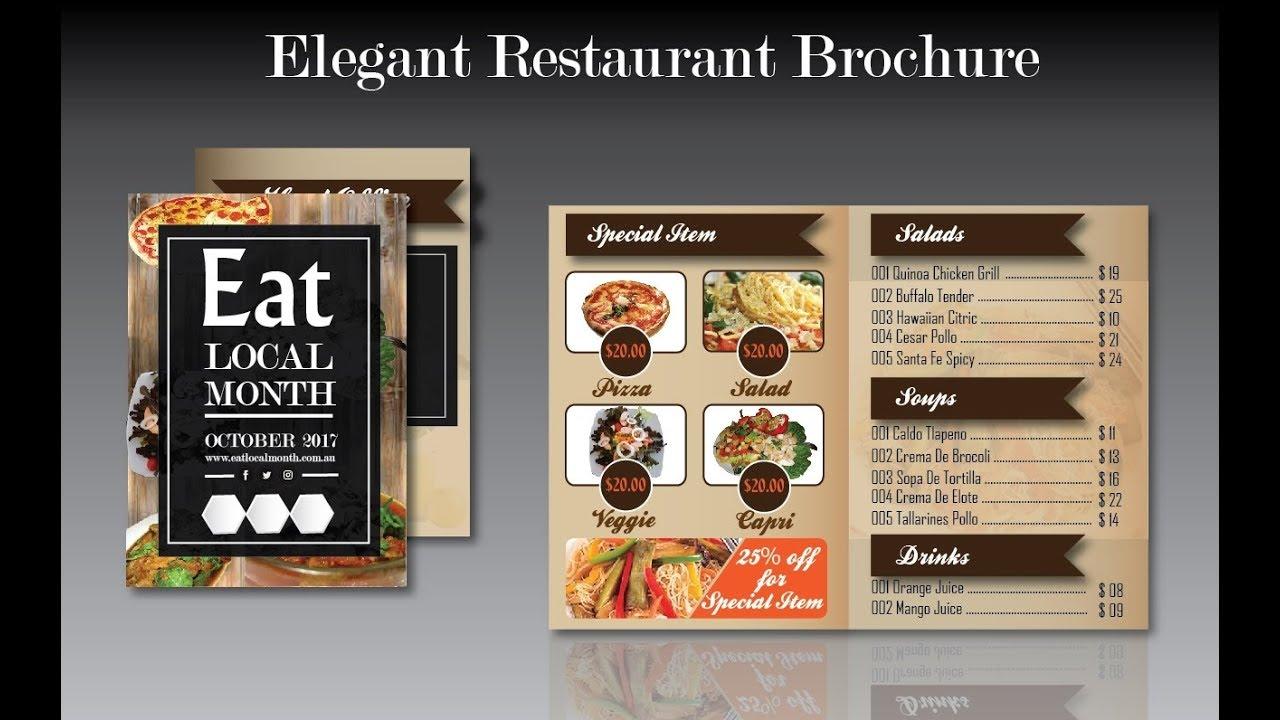 adobe illustrator brochure design how to create elegant restaurant