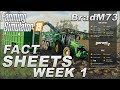 FARMING SIMULATOR 19 NEWS - FACT SHEET FRIDAY - WEEK 1!!  SEPT 7, 2018!  HAMBURGERS???!